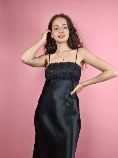 robe nuisette longue noire (3)