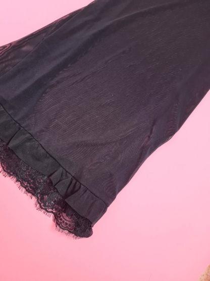 robe nuisette noire à strass (11)