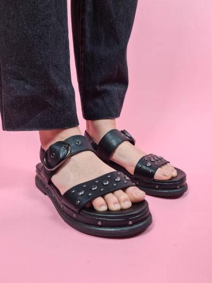 sandales à plateforme noire (4)