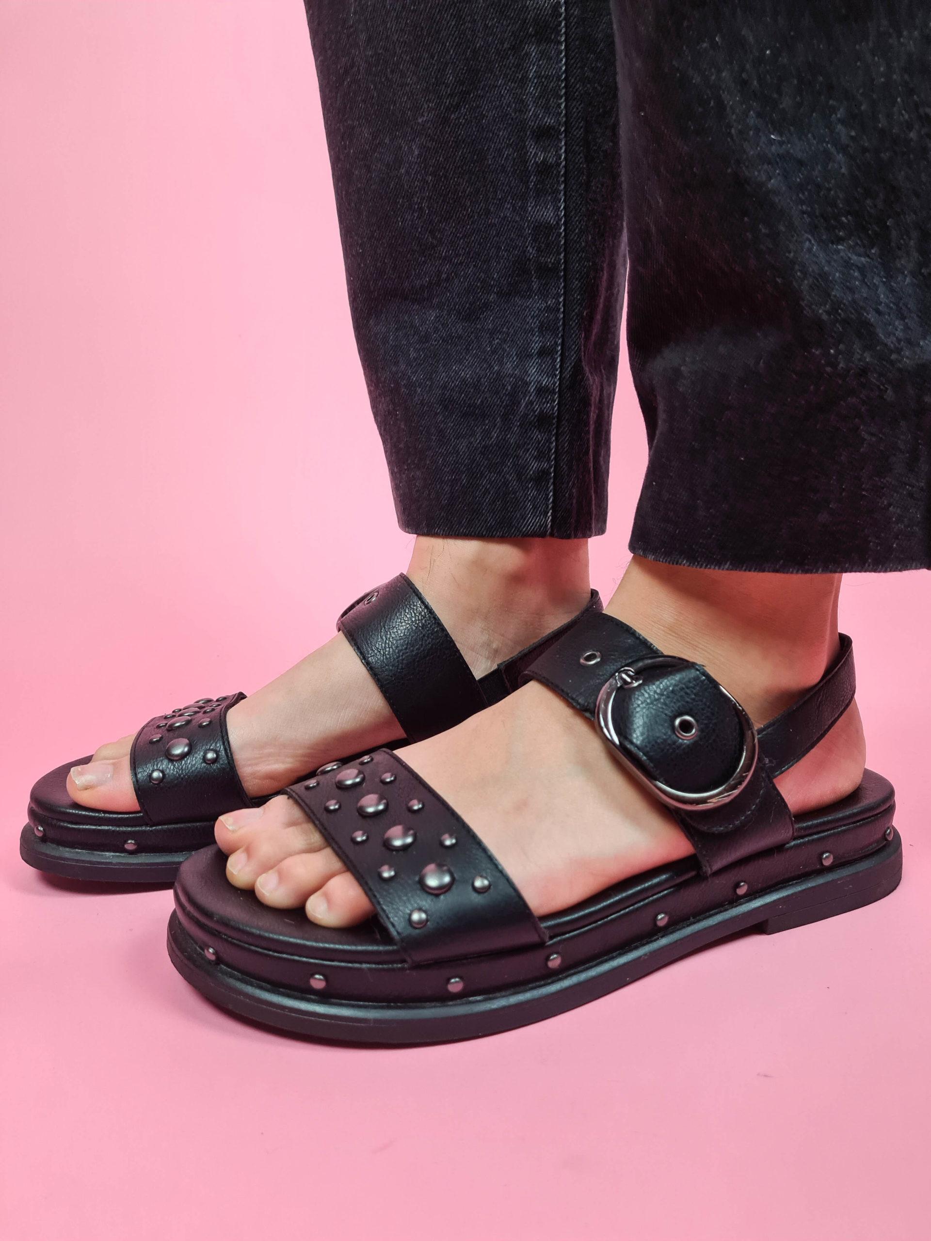 sandales à plateforme noire (6)