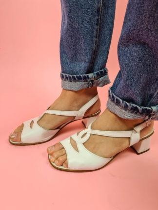 sandales d'été blanches à bride (2)