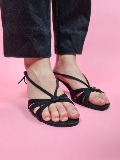 sandales d'été noires petits talons (1)