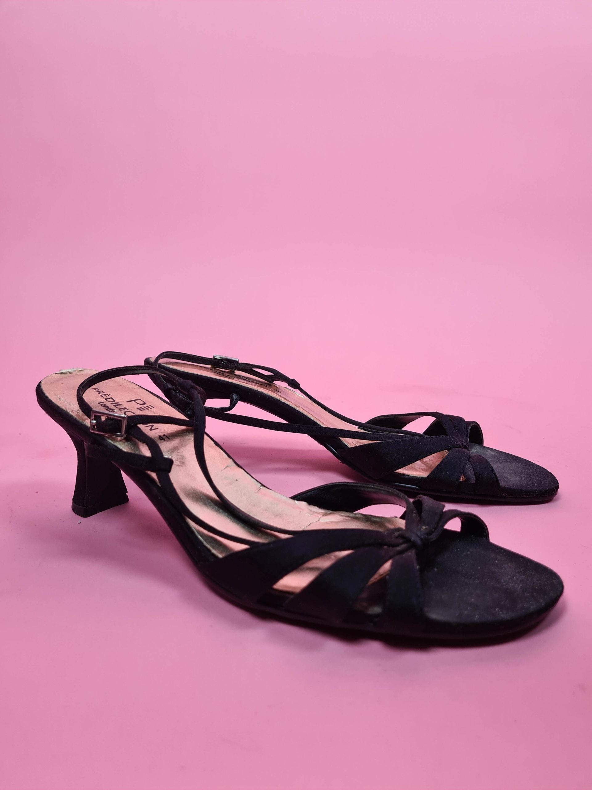 sandales d'été noires petits talons (3)