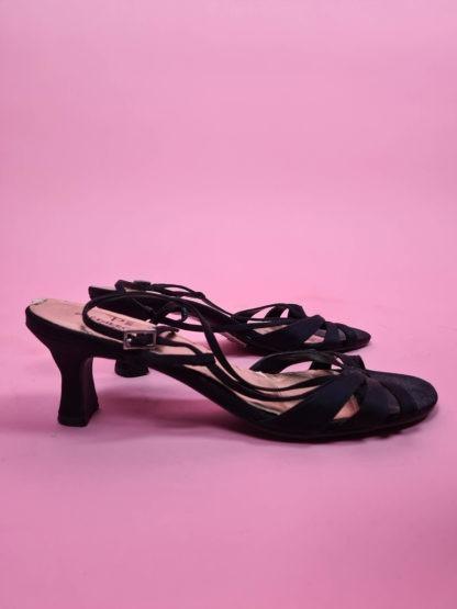 sandales d'été noires petits talons (4)