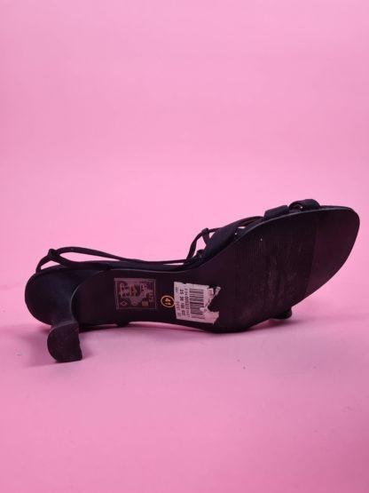 sandales d'été noires petits talons (6)