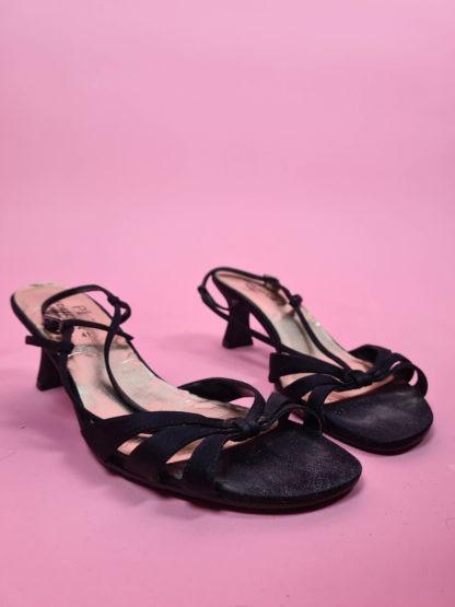 sandales d'été noires petits talons (8)