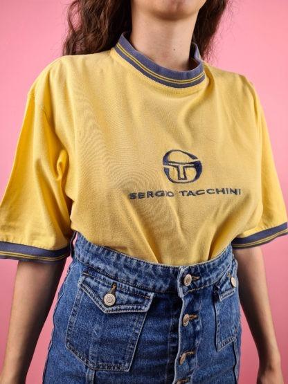 t-shirt jaune et bleu Sergio Tacchini (7)