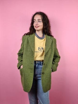 veste blazer vert anis (3)