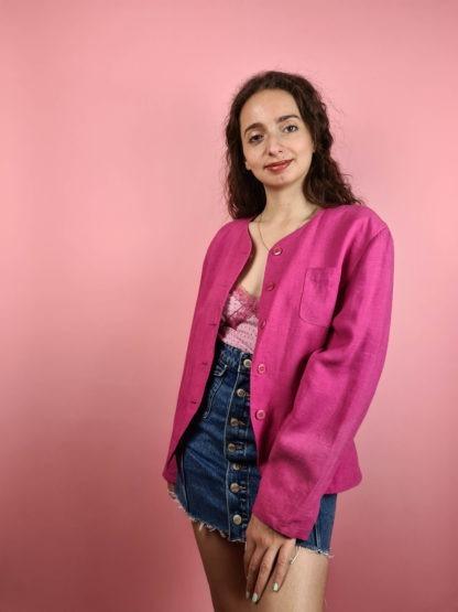 veste vintage fushia (1)