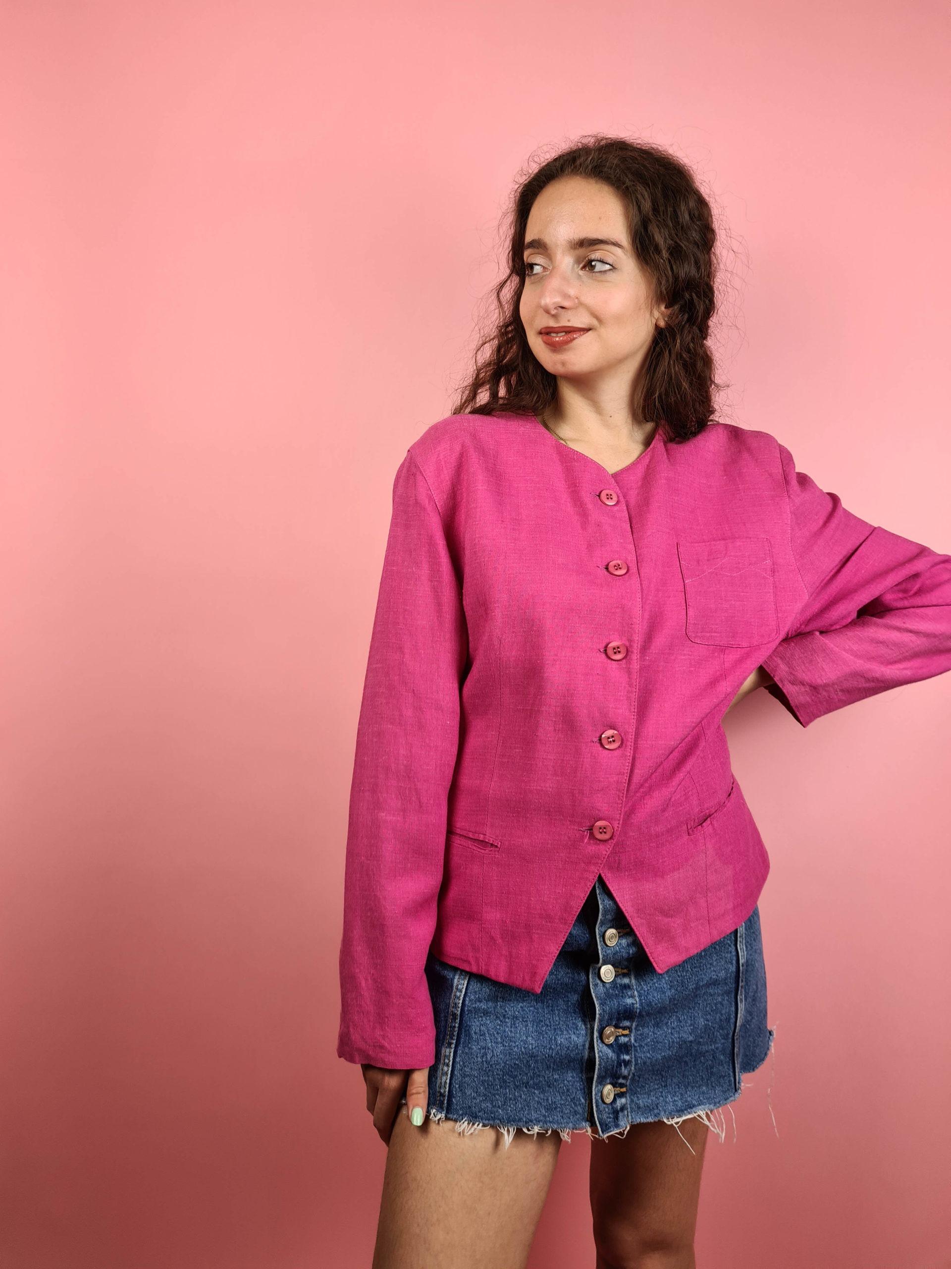 veste vintage fushia (6)